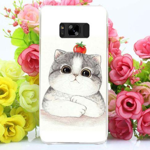 Оригинальный чехол бампер для Samsung Galaxy S8 Plus G955 с картинкой Котенок