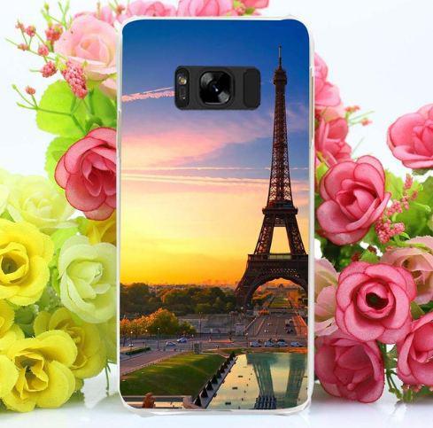 Оригинальный чехол бампер для Samsung Galaxy S8 Plus G955 с картинкой Башня