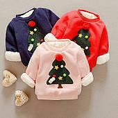 """Меховый свитер для детей """" Праздничный """""""