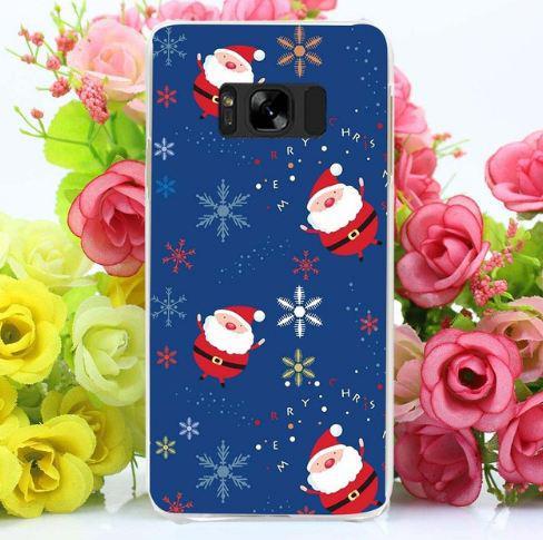 Бампер силиконовый чехол для Samsung Galaxy S8 Plus G955 с картинкой Санта