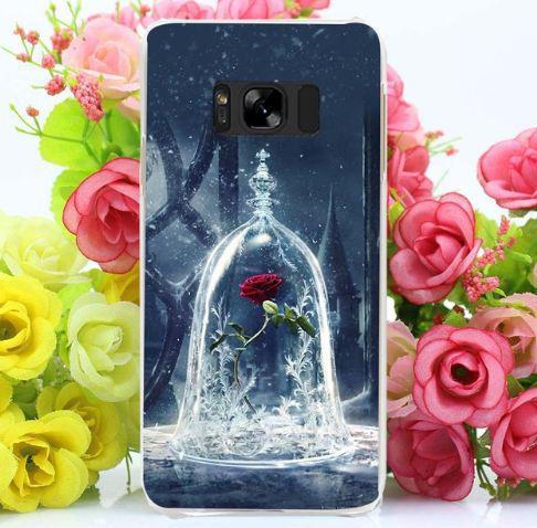 Бампер силиконовый чехол для Samsung Galaxy S8 Plus G955 с картинкой Красная роза