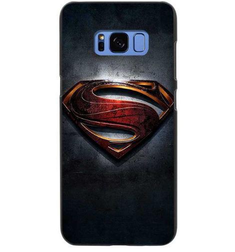 Бампер силиконовый чехол для Samsung Galaxy S8 Plus G955 с картинкой Супермэн