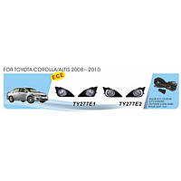 Фары доп модельные Toyota Corolla E140 2007-2012 TY-277E2-W
