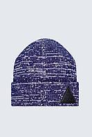 Шапка теплая двойная Urban Planet C37 NM фиолетовая (теплая шапка, шапка мужская, шапка женская)