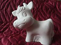 Гіпсова фігурка для розмальовки. Гипсовая фигурка для раскраски. Корова 12 см.