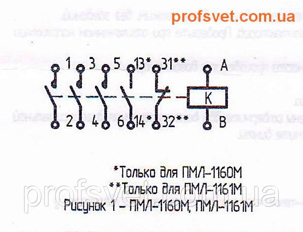 сканирование электрическая схема подключения пмл-1160-м 10-a