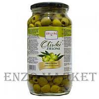Оливки зеленые Helcom (без косточки), 900 грамм