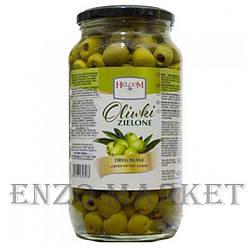 Оливки зелені Helcom (без кісточки), 900 грам