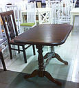 Стол Аврора обеденный раскладной деревянный 101(+35)*69 ваниль, фото 8