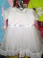 Белое бальное платье для девочки до 2 лет
