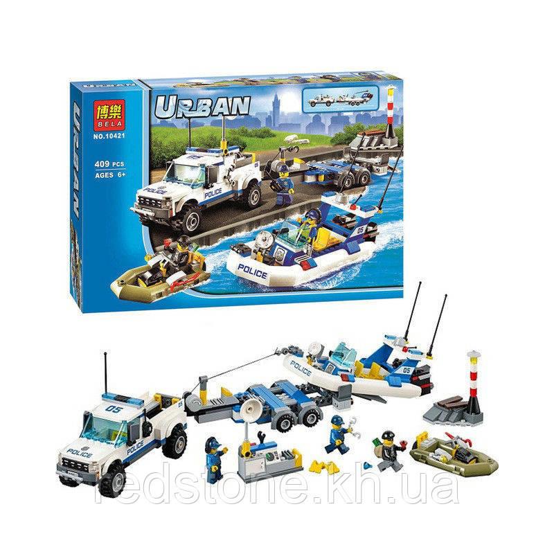 Конструктор Bela Urban Police 10421 полиция (Lego City 60045) 409 деталей