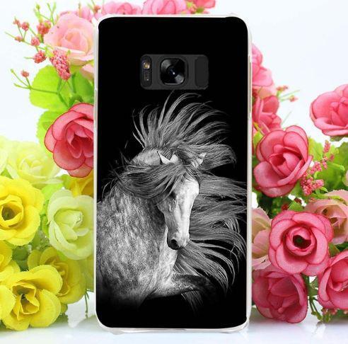 Бампер оригінальний чохол з принтом для Samsung Galaxy S8 Plus G955 Кінь