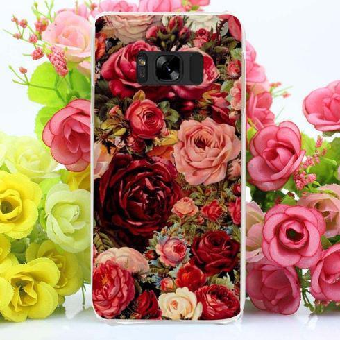 Бампер оригинальный чехол с принтом для Samsung Galaxy S8 Plus G955 Розы