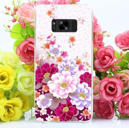 Бампер оригинальный чехол с принтом для Samsung Galaxy S8 Plus G955 Цветы
