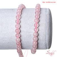 Розовый кварц природный бусина 5мм светло-розовый для рукоделия