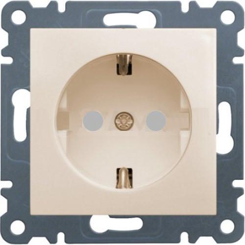 Розетка с заземлением и защитой контактов Hager Lumina2 Кремовый WL1061