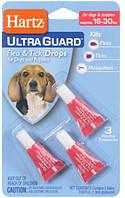 Hartz UltraGuard 3in1 Капли для собак от блох и клещей весом 7-14 кг