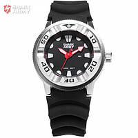 Мужские часы Shark Army с рельефным ремешком красные