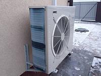 Тепловой насос Воздух-вода Daikin Alterma 7.4 квт. Установлен в Межиречье Киевская область.