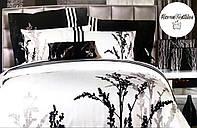 Белоснежный комплект постельного белья из сатин-вышивки Полуторный Alltex