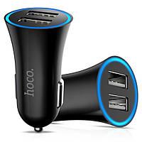 Автомобильное зарядное устройство АЗУ HOCO UC204 на 2 USB c LED подсветкой, фото 1