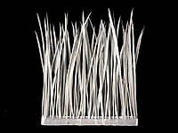 Тесьма перьевая (стриженное гусиное перо Biot), цвет White, 0.5м