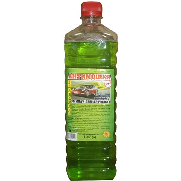 Летний омыватель стекла Антимошка зеленое яблоко 1 л