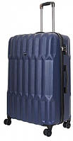 Оригинальный большой чемодан на 4-х колесах 102л Vip Collection Barbados BBS.28.blue синий