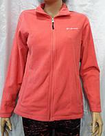 Кофта женская флисовая спортивная Columbia розовая