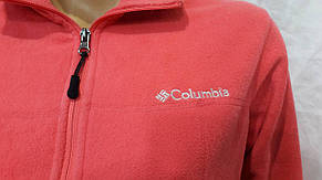 Кофта женская флисовая спортивная Columbia розовая, фото 2