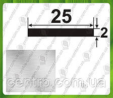 "25*2. Алюминиевая полоса (шина). Анод ""Серебро"". Длина 3,0м и 6,0 м"