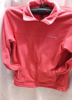 Кофта женская флисовая спортивная Columbia розовая, фото 3