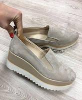 Туфли женские замшевые на платформе