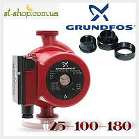 Насос циркуляционный Grundfos UPS 25-100 (база 180 мм), фото 1