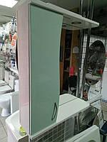 Зеркало со шкафчиком, бирюза, левое 60 см