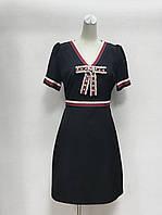 Платье Gucci с бантиком черное