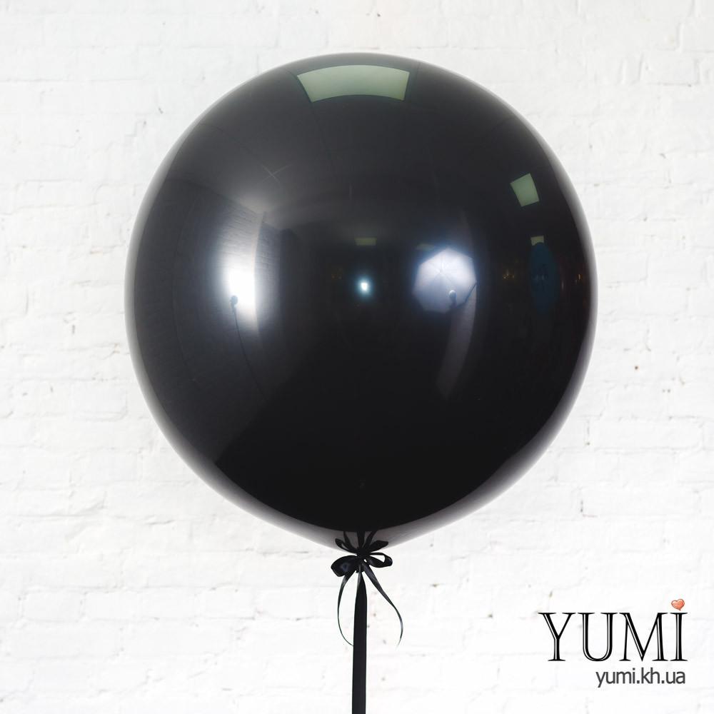 Стильный черный шар-гигант с гелием для мужчины