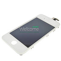 IPhone4S LCD with touch white with frame orig (TEST)