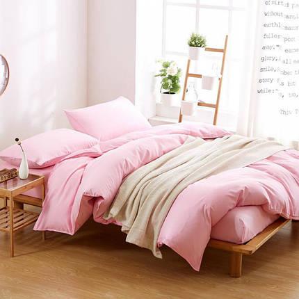 Постельное белье Постельное белье ранфорс Однотонный Розовый ТМ Царский дом  (Евро), фото 2