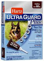 Hartz UltraGuard 4in1 Капли для собак от блох и клещей весом от 27 кг