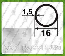 16*1,5. Алюминиевая труба круглая. Без покрытия.
