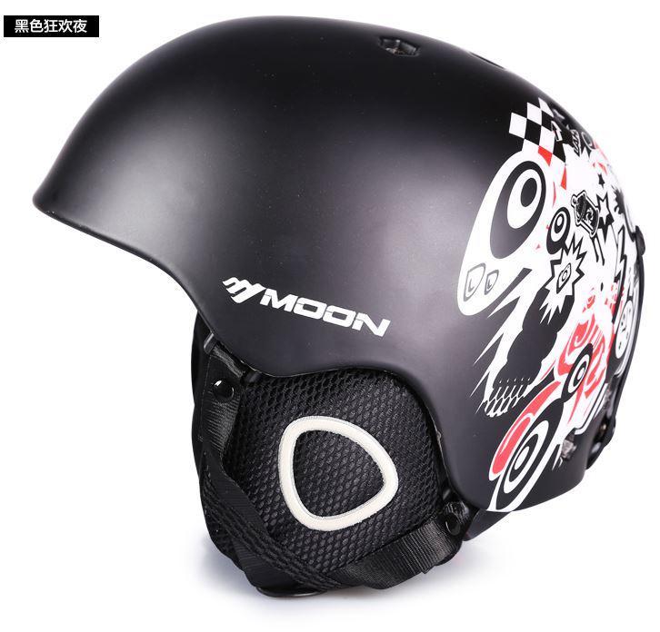 Гірськолижний / сноубордичний шолом DOTOMY MOON (Black + white paint)