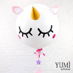Воздушный гелиевый шар-гигант с милым декором для девочки