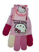 Детские перчатки на девочку с разноцветными пальчиками