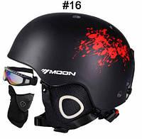 Гірськолижний / сноубордичний шолом DOTOMY MOON (Black + Red ink), фото 1