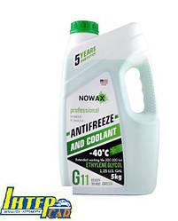 Антифриз NOWAX G11 Green -42°C NX05003 5л