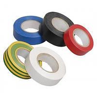 Лента изоляционная PVC 0,13mm x 19mm x 20 метров, красная (упаковка 10 шт - 72х72х190)/Стрічка ізоляційна PVC