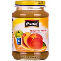 Пюре Hame яблоко и персик, 190 г