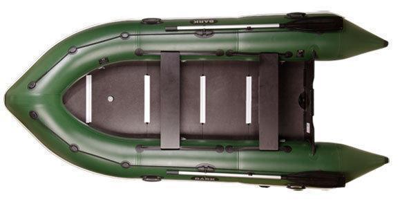 Остроносая моторная надувная килевая лодка Bark BN-310S трехместная с жестким днищем. Доступно. Код: КГ3068