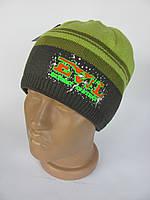 Детская шапка Evil (Зеленый-Коричневый)